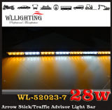 Rotes White Arrow Warning Stick LED Strobe Lights mit Traffic Advisor