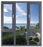 Gebogenes Aluminiumflügelfenster-Fenster mit kundenspezifischem Entwurf