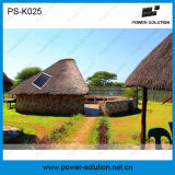 Home Application ventilador solar de 12V com 10W painel solar 3PCS LED Lights Kit