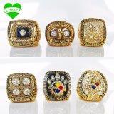 El color Pittsburgh Steeler del oro suena el anillo de campeonato de la reproducción del Super Bowl