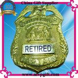 Distintivo del metallo per il regalo del distintivo della polizia con il disegno 2017