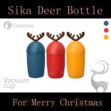 Kreative Sika Rotwild-Form-Glaswasser-Flasche für Weihnachtsgeschenk
