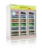 Refrigerador refrigerando da bebida do ventilador para o supermercado