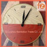 """Les produits du bois en bois rustique horloge d'impression personnalisée 12"""" de diamètre"""