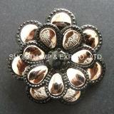 Commerce de gros de la mode fleur décorative métalliques personnalisées Rhinestone Vêtements Accessoires de bricolage