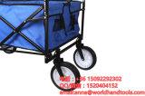 Opvouwbare Wagen geschikt voor elk terrein met (Blauw/de Zwarte) Luifel van de Schaduw - Gebruik voor het Tuinieren, Tailgating, de Reizen van het Strand, Picknicks, en meer