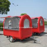 中国の製造者の多彩な通りの移動式食糧カート/ファースト・フードのトラック/食糧トレーラー