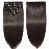 100% Humano Hair Extension Clip en la extensión de Cabello Humano (AV-CH80-14-2)