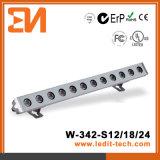 Los medios de iluminación de Fachada LED bañador de pared (H-342-S18-W)