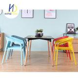 Mejor venta barata de plástico de diseño moderno Eventos al Aire Libre Jardín silla con reposabrazos