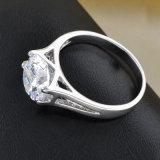 De hete Verkopende Rhodium Ring van de Juwelen van het Huwelijk van CZ van de Manier van het Plateren
