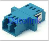Adaptateur optique de LC de fibre duplex bleue de SM
