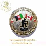 I militari rotondi di marca di buona qualità di marchio su ordinazione del metallo non prezioso coniano