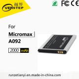 Los fabricantes de calidad AAA de la batería del teléfono móvilparaMicromax A092