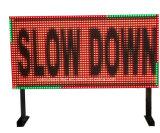 LED de señalización de seguridad vial el Límite de Velocidad Variable Vms firmar la pantalla LED de mensajes de tráfico