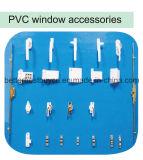 Finestra approvata della stoffa per tendine del migliore Ce UPVC di prezzi con la striscia decorativa