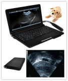 Scanner veterinario di ultrasuono del computer portatile con la sonda convessa 3.5MHz