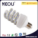 Luz de bulbo energy-saving do diodo emissor de luz da espiral eficiente