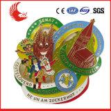 Emblema gravado da liga do zinco da venda metal feito sob encomenda quente