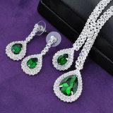 Rhodium die de Groene Reeks van de Juwelen van het Zirkoon van CZ van het Huwelijk Bruids plateert