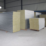 El borde de poliuretano anticorrosión Panel de pared tipo sándwich de lana de vidrio