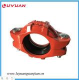 Adaptateur de bride en acier ductile (raccord de tuyau cannelé) avec FM/UL