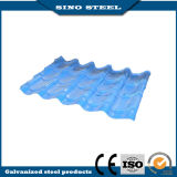 Placa de material para techos de acero acanalada galvanizada cubierta color