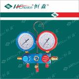 Ensemble de collecteur en aluminium / jauge de réfrigération / manomètre / outils de réfrigération