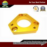 CNC Aluminum Machining Parte di precisione con Yellow Anodizing Finish