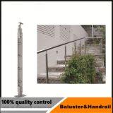 Balcón de acero inoxidable barandilla de cristal con acero inoxidable mesas Post