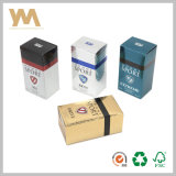 Goffratura trattando la scatola di cartone del profumo per gli uomini