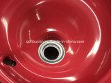 Lo zinco ha placcato la riga della barra di rotella di gomma galvanizzata Wb6404h della carriola