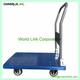Plattform-Laufkatze-Hand-LKW-Gepäck-Karren-Plastikladeplatten-Laufkatze