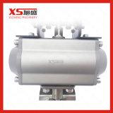 Edelstahl-gesundheitliches Aluminiumstellzylinder-Drosselventil mit Magnetventil