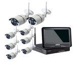 Toesee 8CH drahtloser Installationssatz des CCTV-Systems-720p HD NVR im Freienir-Nacht-IP-Kamera WiFi Kamera-Sicherheitssystem-Überwachung-Installationssätze mit schwarzer Farbe 10 Zoll Monitor-