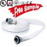 Tubo flessibile Wearproof ad alta pressione dell'acqua del fuoco della tela di canapa da 2 pollici