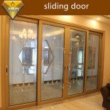 Aluminium glissant la double porte en verre avec ISO9001