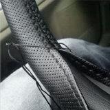 針および糸車のスタイルを作ることのDIY車のハンドルカバーハンドルバーのブレード38cmのユニバーサル柔らかい革ステアリング車輪