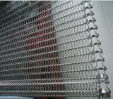 Correa transportadora de acero inoxidable para congelar el procesamiento de alimentos