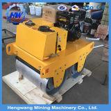 Double compacteur de rouleau de route goudronnée de roue d'acier du rouleau de route de tambour 760kg 2