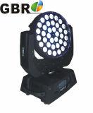 4en1 36PC Zoom LED Wash moviendo la cabeza de la luz de la etapa
