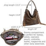 Borsa del progettista del sacchetto di spalla delle donne della nappa di modo (WDL0304)