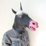Máscaras animales de la pista de caballo de la venta de Víspera de Todos los Santos 3D de la historieta del látex del unicornio facial barato caliente de Cosplay