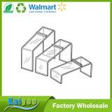 Visualización de acrílico del estante del zapato del soporte de visualización del almacén de zapato, conjunto 3