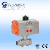 2PC Pneumatic Flanged Ball Valve