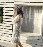 Способ женщин видит до конца белизну кардигана шали шнурка открытую переднюю