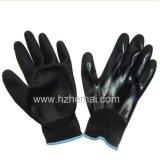 Entièrement les nitriles ont plongé des gants avec le gant de travail de sûreté de paume de nitriles de Sandy