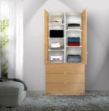 Armário moderno de armário de móveis de quarto com prateleiras e gavetas ajustáveis (HF-EY09041)