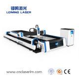 Taglierina Lm3015am3 del laser della fibra della Tabella di scambio di taglio del piatto e del tubo