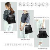 De Rugzak van de Student van de School van de Rugzak van het Leer van de Vrouwen Pu van dame Backpack Fashion Women Backpack Douane (WDL0546)